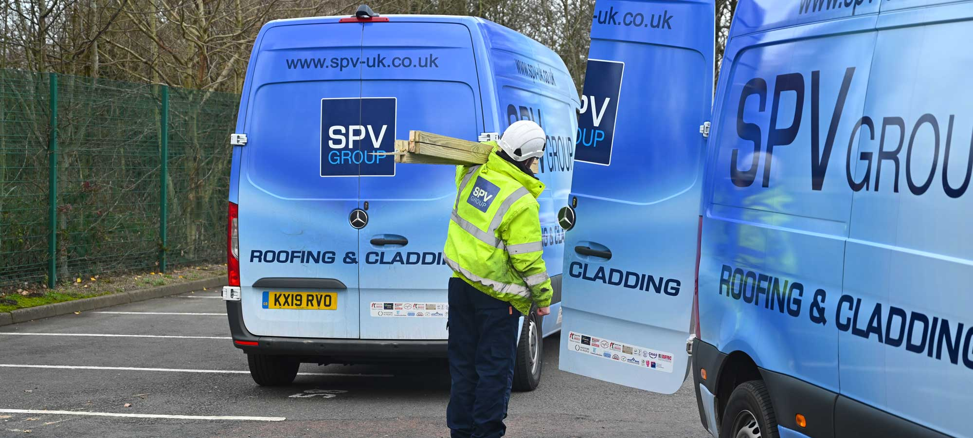 SPV Vans working on a site